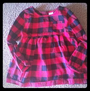Carter's 3T Red & Black plaid tunic